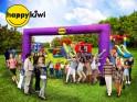 Фиолетовая надувная арка 7м